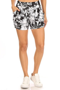Tie Dye Relax Fit Shorts In Ivory