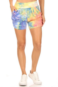 Tie Dye Relax Fit Shorts