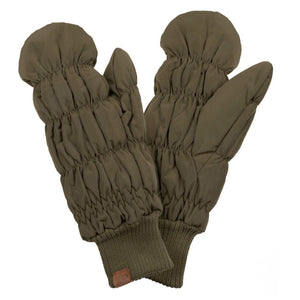 Winter Puffer Mitts in Olive