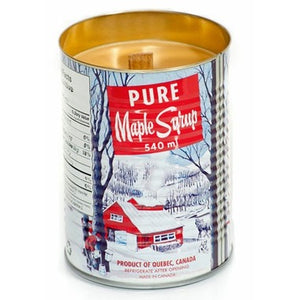 Retro Tin Maple Candle - Wood Wick