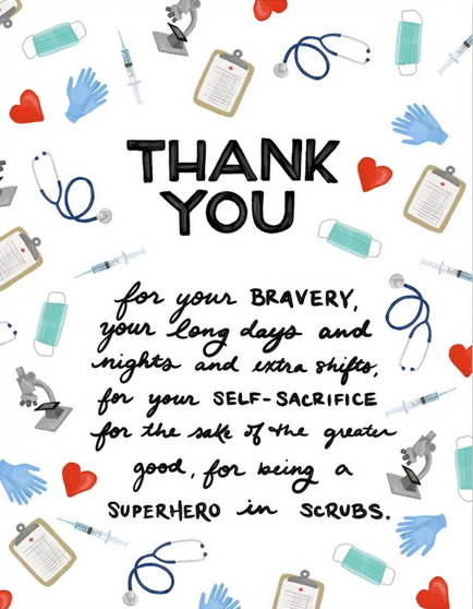 Medical Personnel Thank You Greeting Card