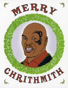 Mike Tyson Christmas Greeting Card