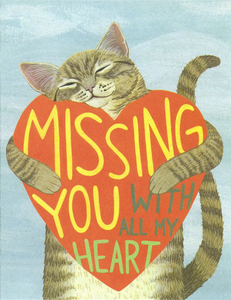 Missing You Cat Greeting Card