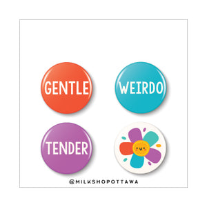 Gentle Mood Pinback Button Set
