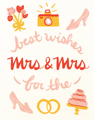 Best Wishes Mrs and Mrs Greeting Card