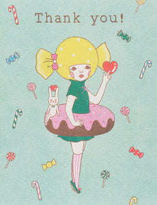 Donut Girl Greeting Card