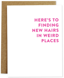 New Hairs Greeting Card