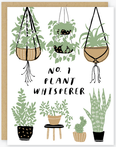 Plant Whisperer Greeting Card