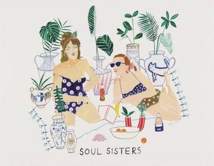 Red Cap Greeting Cards - Soul Sisters