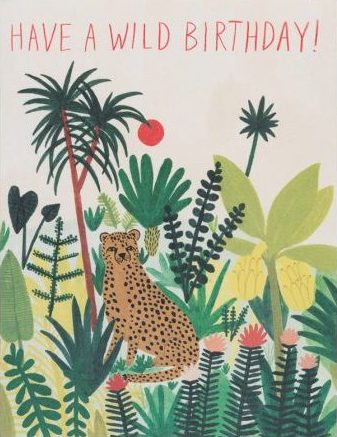 Red Cap Greeting Cards - Cheetah Birthday