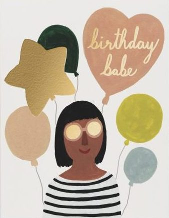 Birthday Babe - Red Cap Greeting Card - Ottawa, Canada