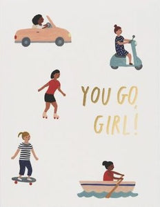 Red Cap Greeting Cards - You Go Girl
