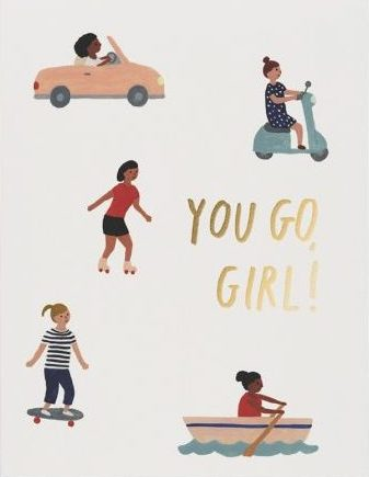 You Go Girl - Red Cap Greeting Card - Ottawa, Canada