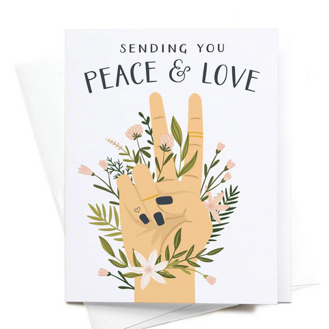Sending You Peace And Love Greeting Card