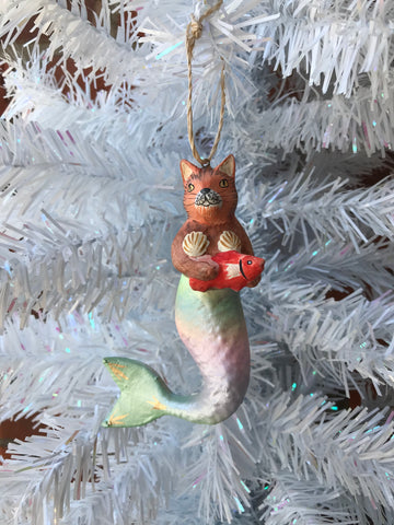 Purrmaid Brown Ornament