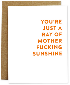Mother Fucking Sunshine Greeting Card