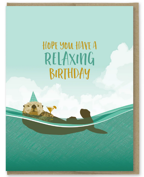 Relaxing Otter Greeting Card