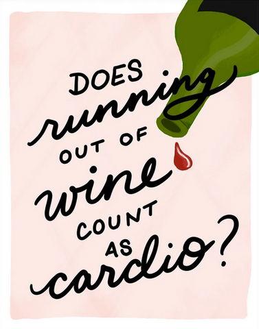 Running Out Of Wine Greeting Card