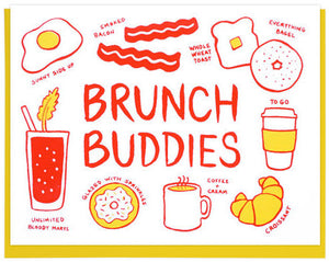 Brunch Buddies - Lucky Horse Press Greeting Card - Ottawa, Canada