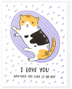 I Love You Cat - Lucky Horse Press Greeting Card - Ottawa, Canada