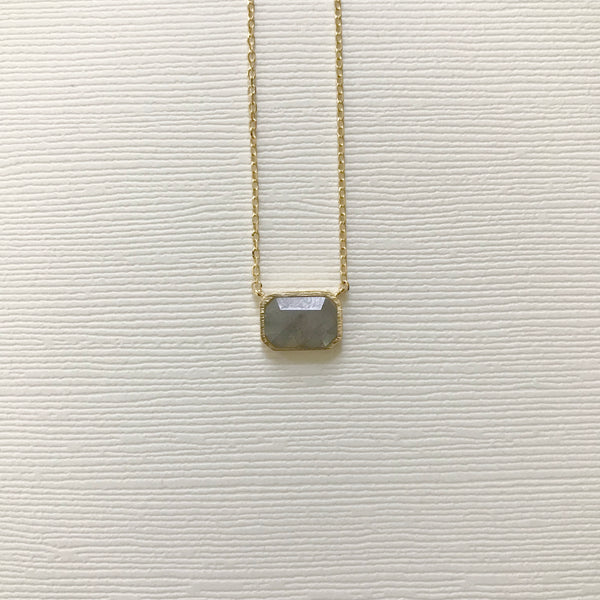 Stone Block Necklace