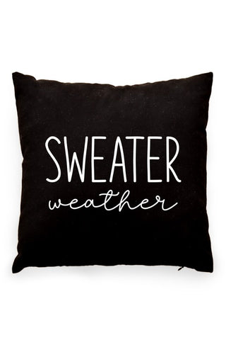 Sweater Weather Pillow Cover Black