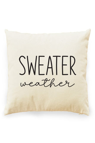 Sweater Weather Pillow Cover Natural