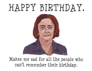 Debbie Downer Birthday Greeting Card