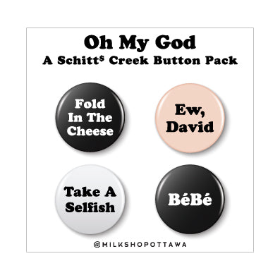 Schitt's Creek Pinback Button Set