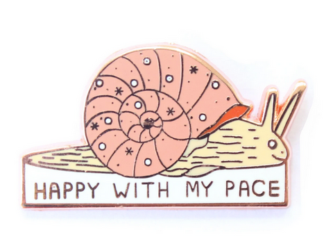 Happy With My Pace Enamel Pin