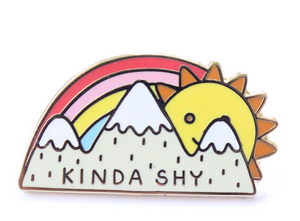 Kinda Shy Enamel Pin