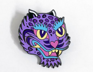 Purple Tiger Enamel Pin
