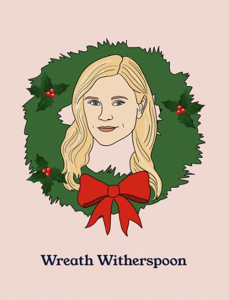 Wreath Witherspoon Greeting Card