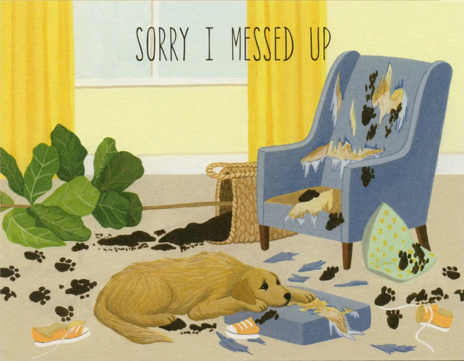 Sorry Dog Greeting Card