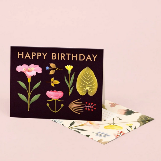Lush Botany Birthday Greeting Card