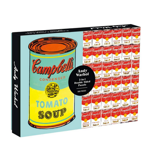 Andy Warhol Soup Can Double Sided Puzzle
