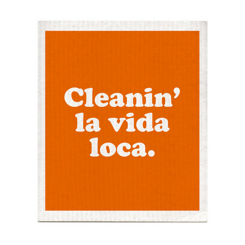 Cleanin' La Vida Loca Dishcloth