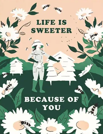 Life Is Sweeter Beekeeper Greeting Card