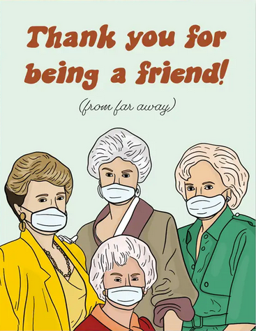 Quarantine Girls Greeting Card