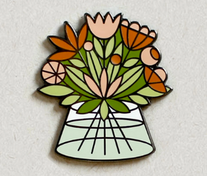 Flower Bouquet Enamel Pin
