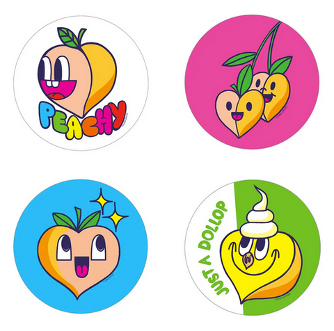 Peach Scratch 'n Sniff Stickers