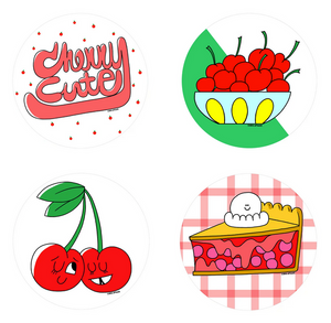 Cherry Scratch 'n Sniff Stickers