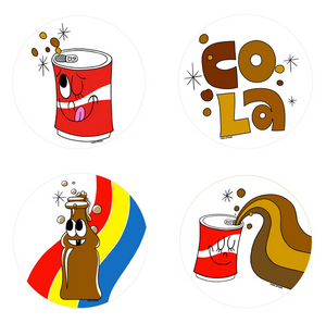Cola Scratch 'n Sniff Stickers