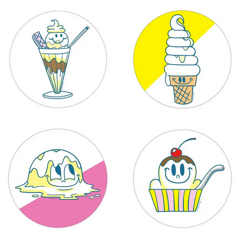 Vanilla Ice Cream Scratch 'n Sniff Stickers