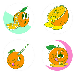 Orange Scratch 'n Sniff Stickers