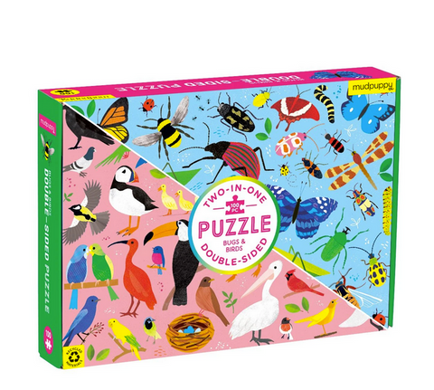 Bugs and Birds Double-Sided Puzzle