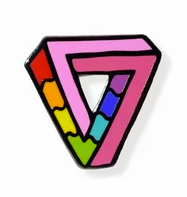 Impossibly Gay Triangle Pin - Enamel Pins - Ottawa, Canada