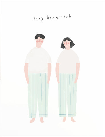 Stay Home Club Greeting Card