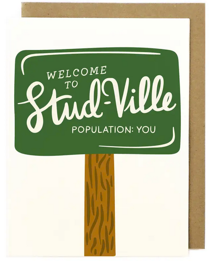 Stud-Ville Greeting Card
