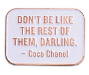 Coco Chanel Enamel Pin